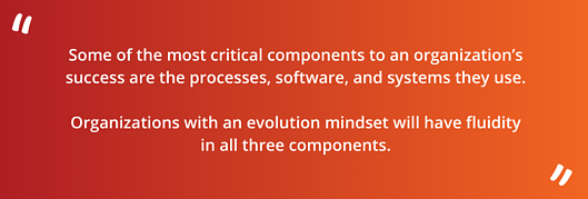 Some of the most critical components to an organization's success are the processes, software, and systems they use.