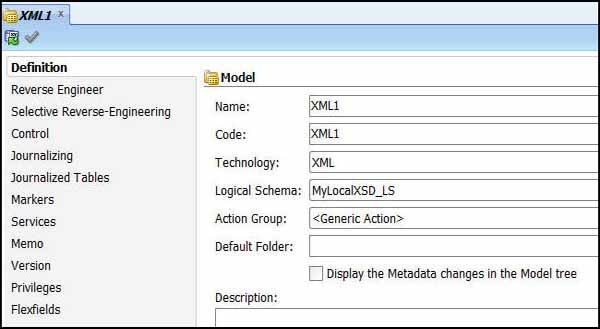 XML Model 1
