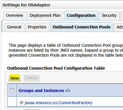 New Outbound Connection Pool
