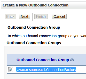 Choose a Connection Group