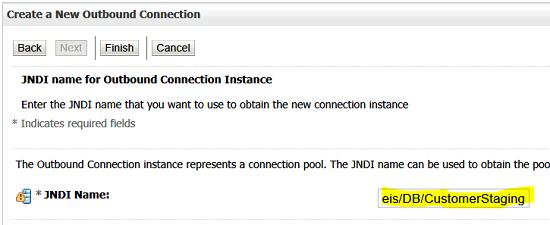 Set Pool JNDI Name