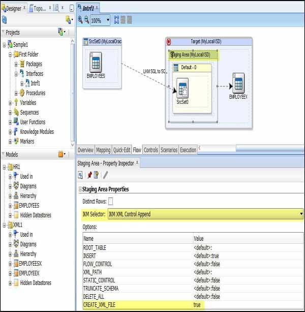 create xml file oracle