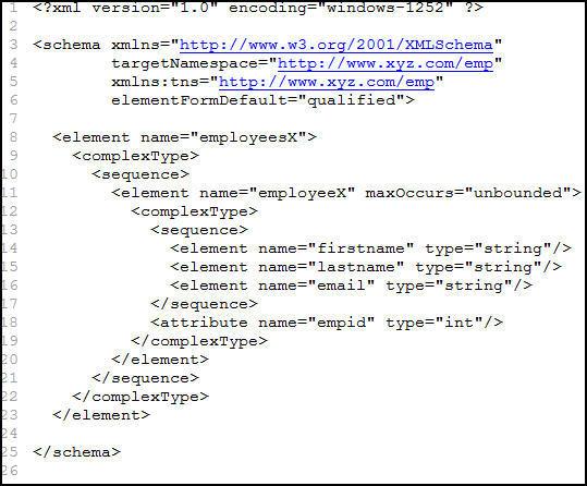 schema code sample