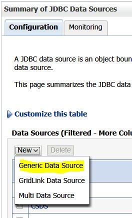 New Generic Data Source