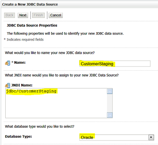 Create a new JDBC Data Source