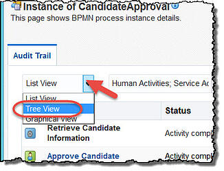 Tree view Audit Trail