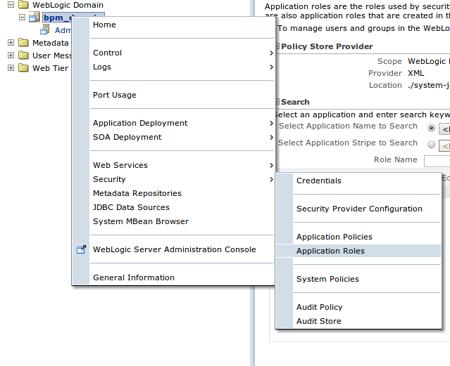 application roles