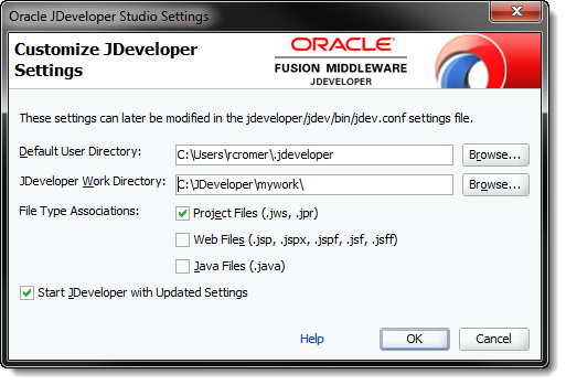 Customize JDeveloper