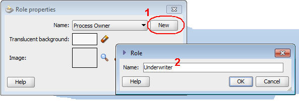 Oracle BPM 11g parametric roles