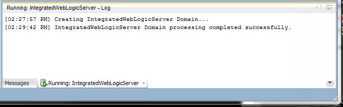 JDeveloper Server Log