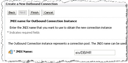 Outbound Connection JNDI Name