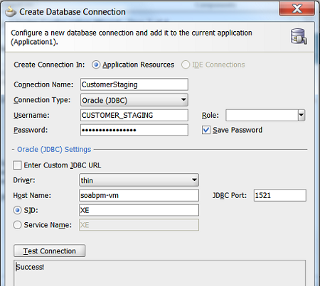 Create Database connection