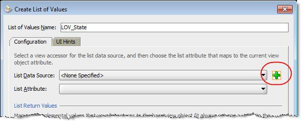list data source dropdown