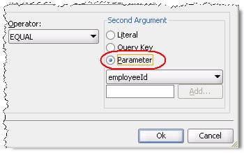 Select based on parameter