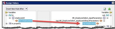 Map employeeId elements