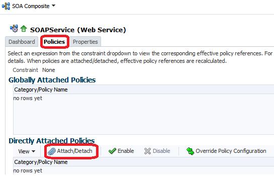 policies - attach/detach