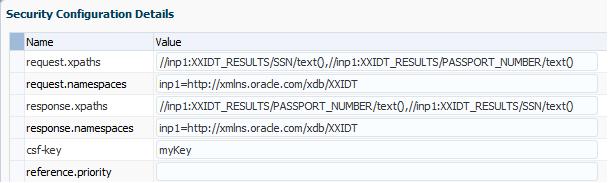 security configuration details