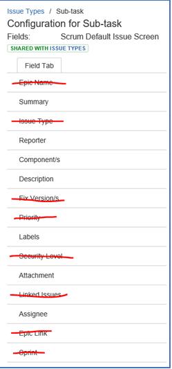 Sub-Task Modifications