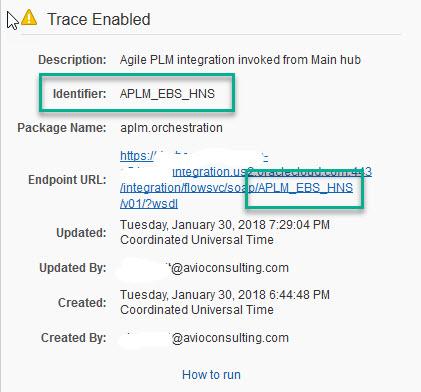 ICS - WSDL URL Details