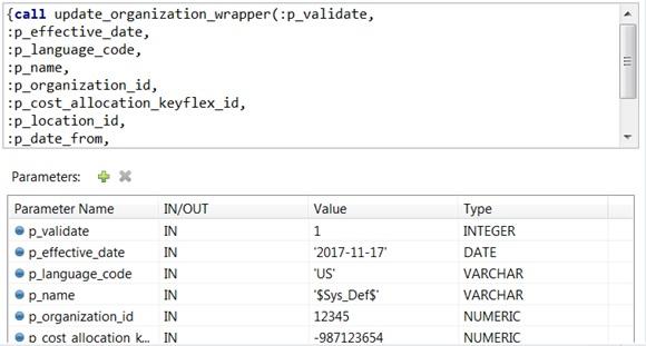 Invoke storedProc in Mulesoft