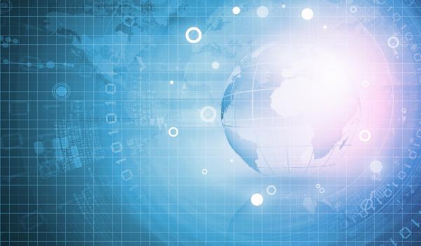 tech globe background